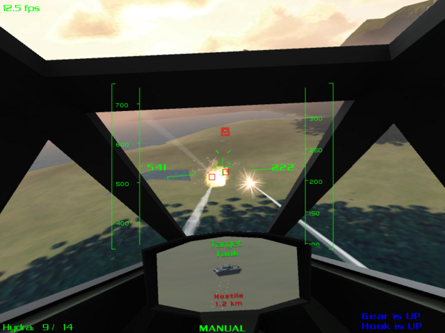 The target view is important for identifying enemy units.