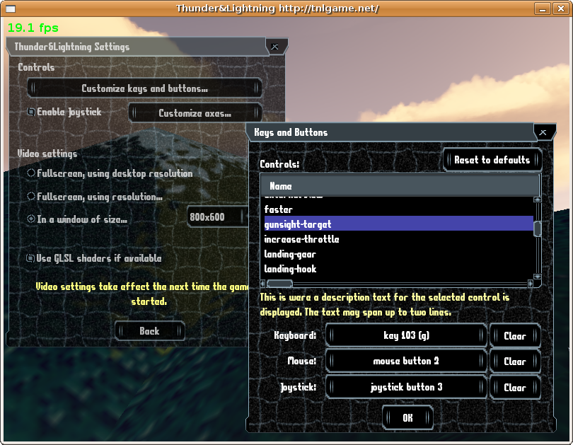 Here is the new settings and button configuration dialog