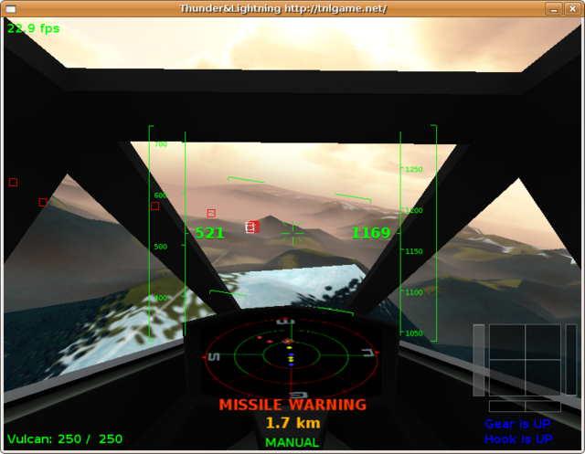 Lots of trouble with those pesky little missiles. On the new radar screen, they're displayed in yellow.