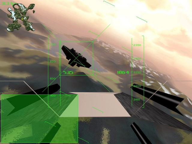 A photo from an older version of the game. You can see a Thunder aircraft. Notice the missing cockpit view.
