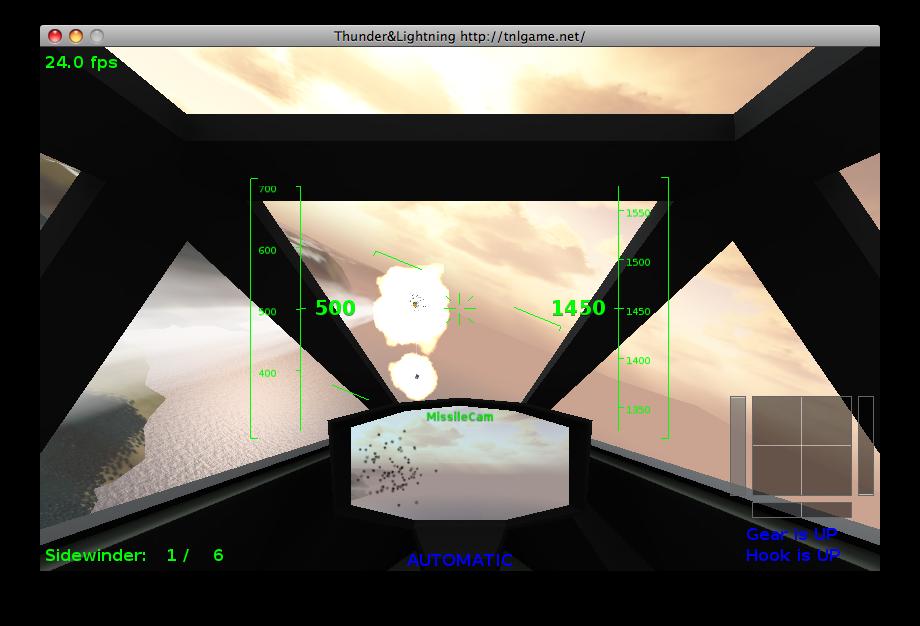 First screenshot of TnL on Mac OS X!