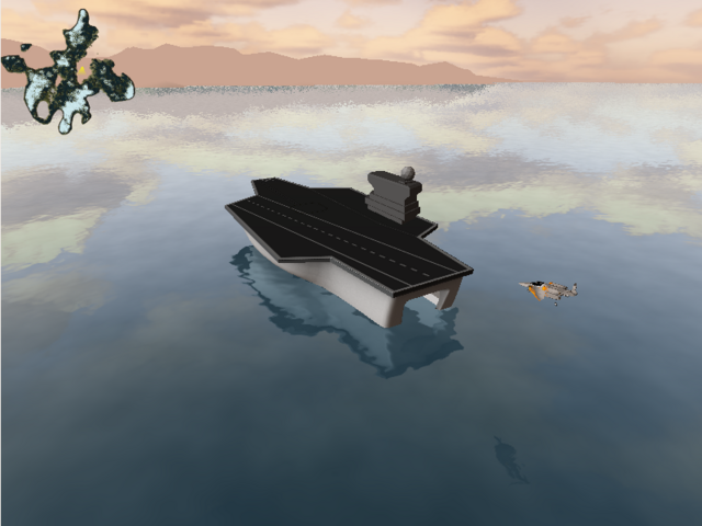 At the time this screenshot was taken, the ground fog rendering for the water was not yet completed.