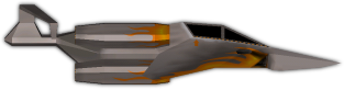 The Lightning, a small fighter craft