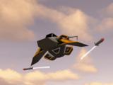 A Lightning aircraft firing missiles